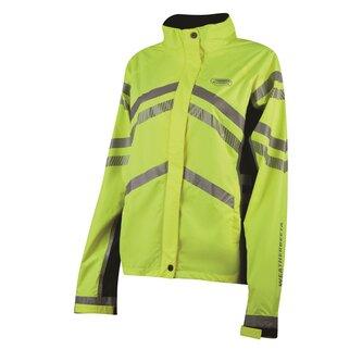 Ladies Reflective Lightweight Waterproof Jacket - Yellow