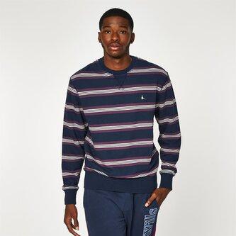 Longworth Stripe Crew Neck Sweatshirt