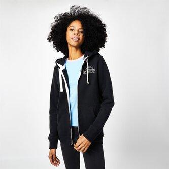 Susan Embroidered Zip Hoodie