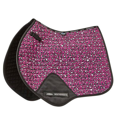 Prime Leopard Jump Shape Saddle Pad - Pink Leopard