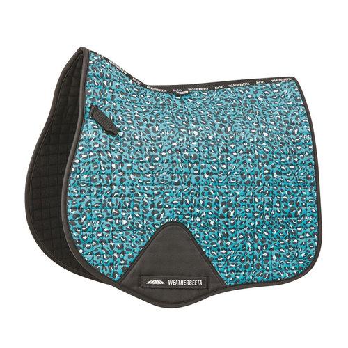 Prime Leopard All Purpose Saddle Pad - Turquoise Leopard
