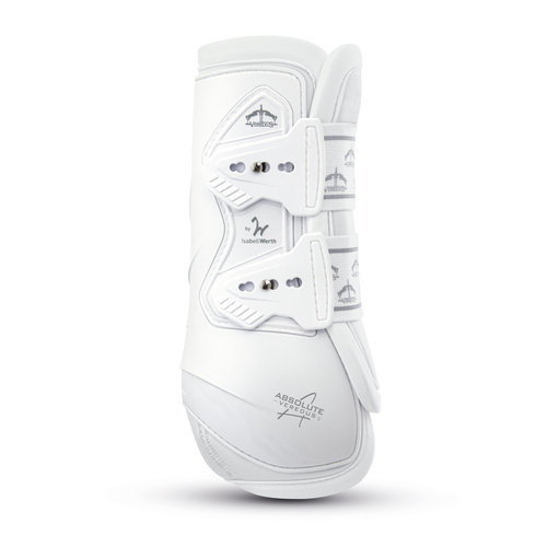 Absolute Dressage Elastic Rear Boots - White