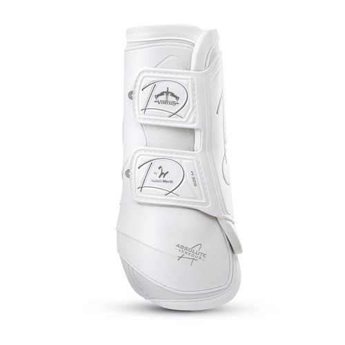 Absolute Dressage Velcro Front Boots - White