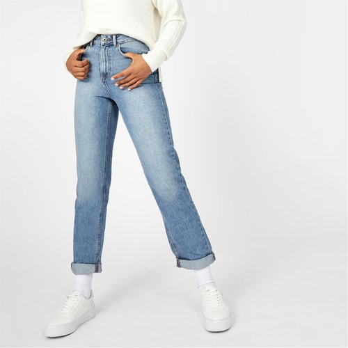 Maddison Mid Rise Straight Jeans