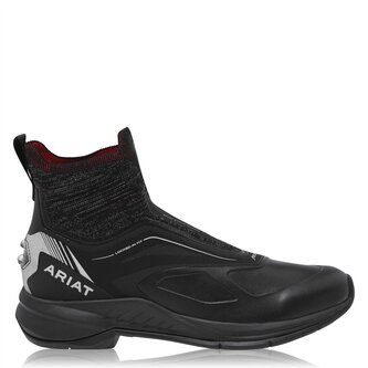 Ascent Ladies Paddock Boots - Black Knit/Red
