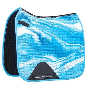 Prime Marble Dressage Saddle Pad - Blue Swirl Marble