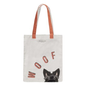 Canvas Woof Tote Bag