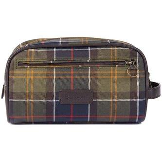 Lifestyle Tartan Wash Bag Mens