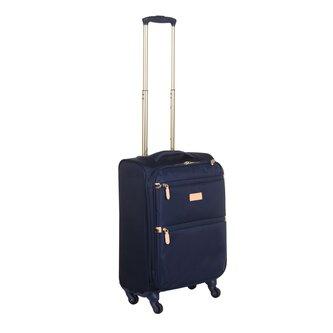 Essentials Navy 4 Wheel Medium Suitcase